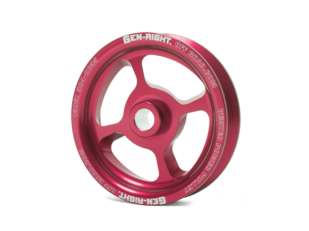GenRight Vented Power Steering Pulley - Red