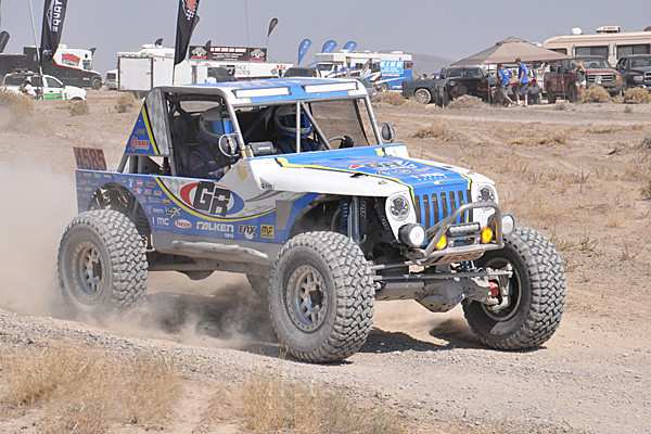 Huge VisionX Light Cannons on Jordan's Ultra4 Racer at the Fallon 250