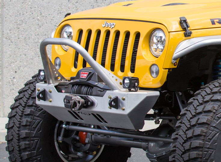 VisionX LED Cube mounted on the front bumper