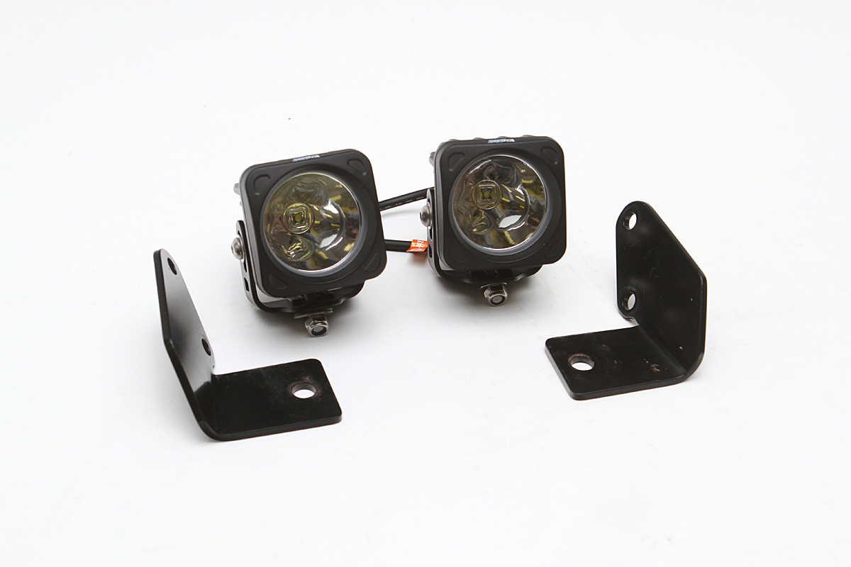 This product package includes the light mounts for a Jeep JK