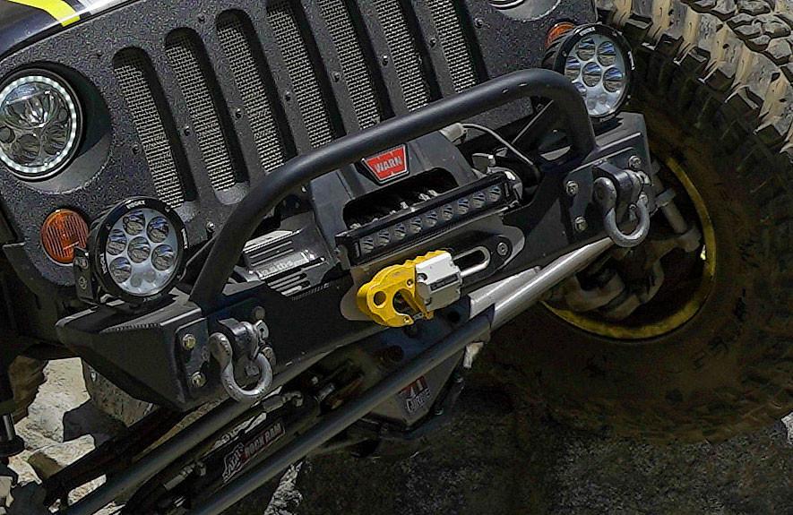 Warn 9.5 cti winch on the GenRight Terremoto JK (F55 hook not included)