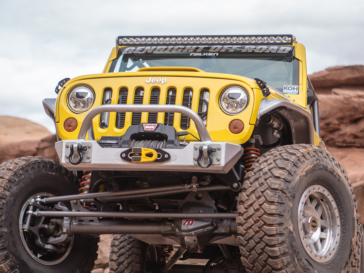 """GenRight narrow tube fenders on the Terremoto  Jeep JK with 38"""" tires"""