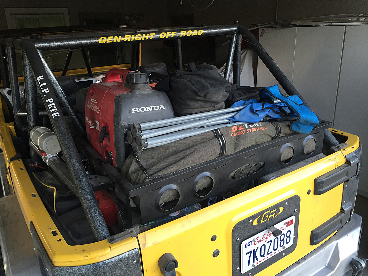 Load up your Jeep JKU with up to 200lbs all your favorite camping gear!