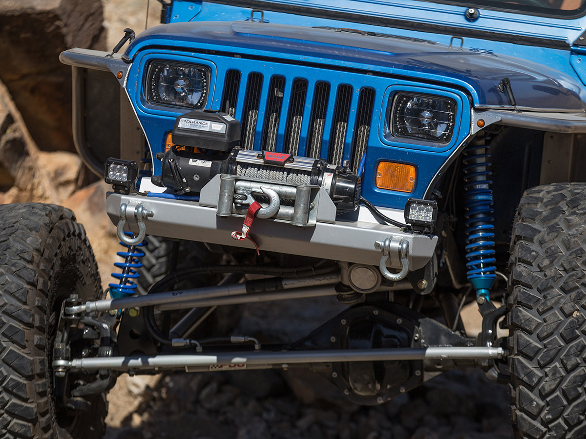 CJ Stubby Front Bumper - Aluminum, Installed (same as our YJ)