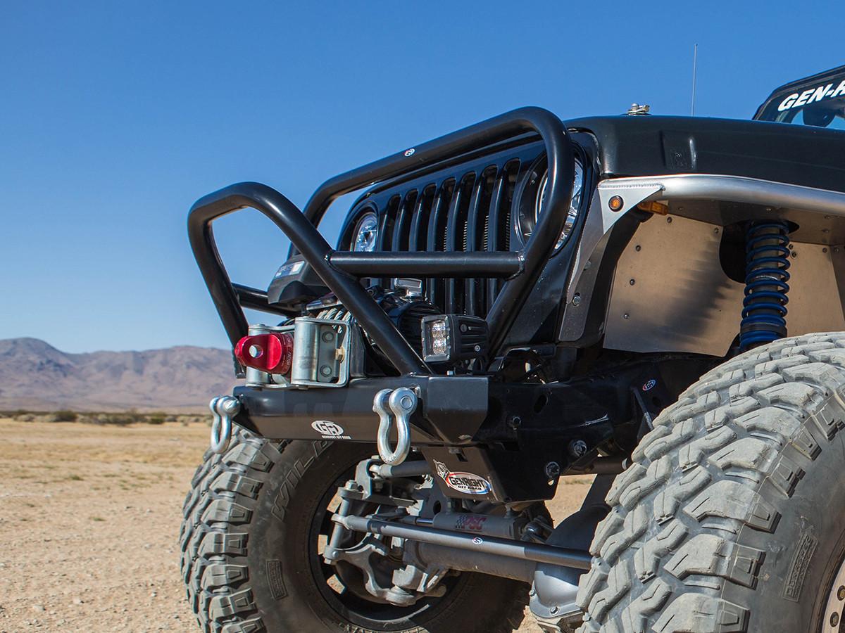 CJ Trail/Grill Guard Front Bumper - Aluminum (Installed)