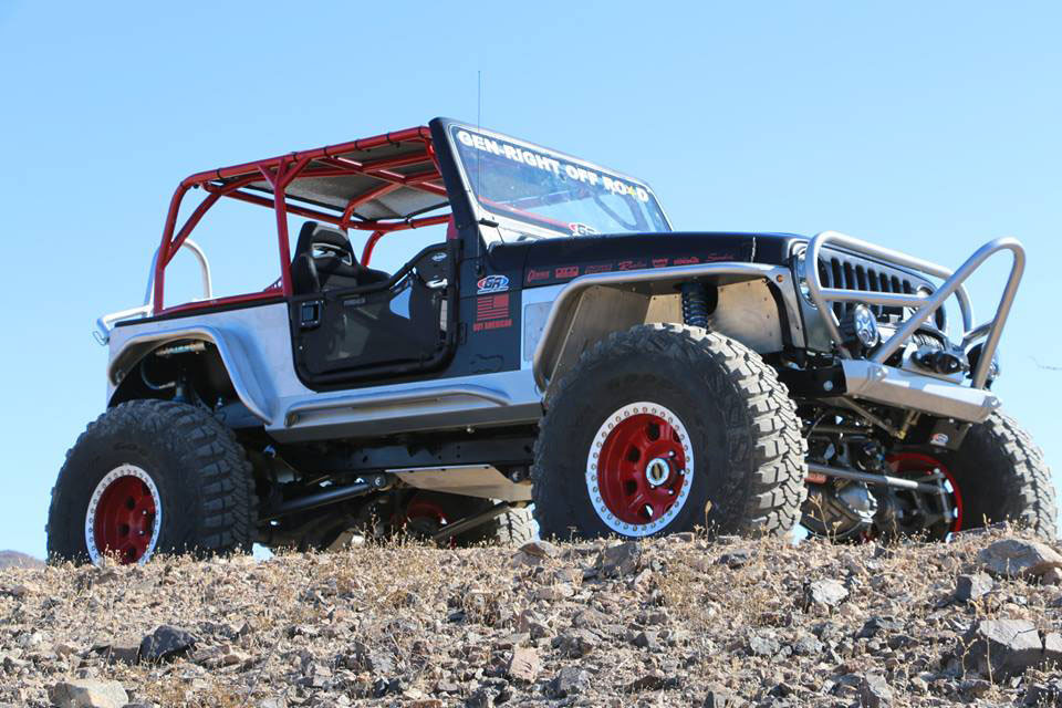 Jeep TJ Boulder/Grill Guard Front Bumper, powder coated silver