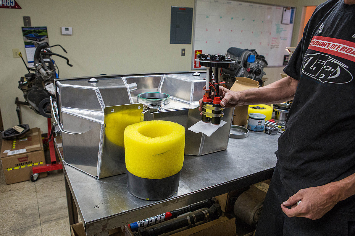 Installing the Aeromotive in-tank pump in the GenRight tank