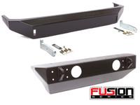 Fusion Jeep JK Front & Rear Bumper Package (Black - Steel)