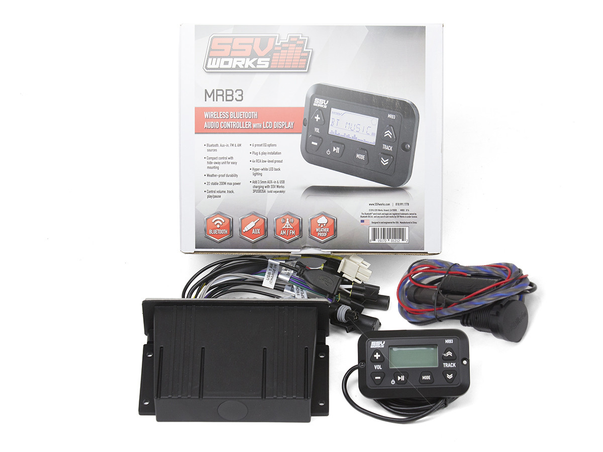 SSV MRB3 Bluetooth System Controller w/Screen & 4 Channel Amp
