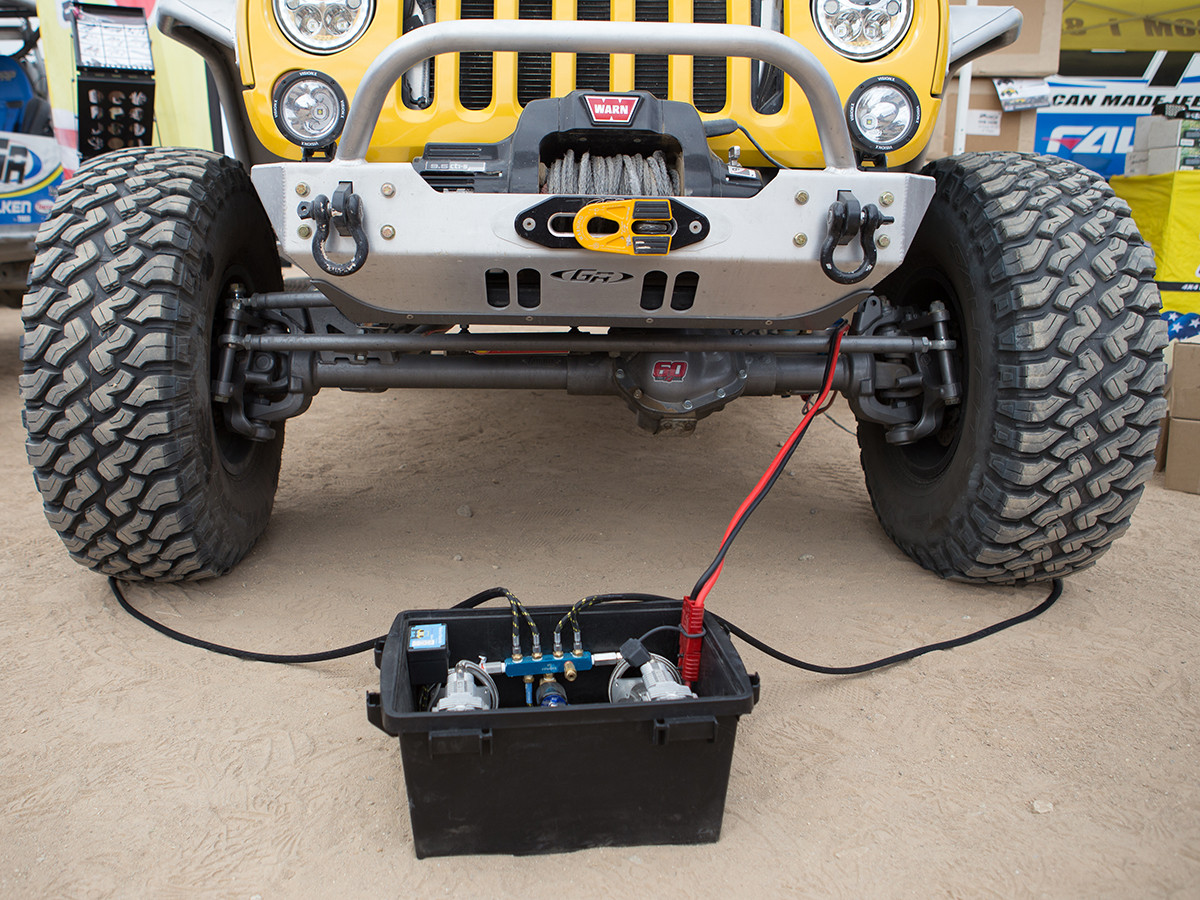 """Ammo Air"" Bluetooth Portable Tire Inflation/Deflation System"