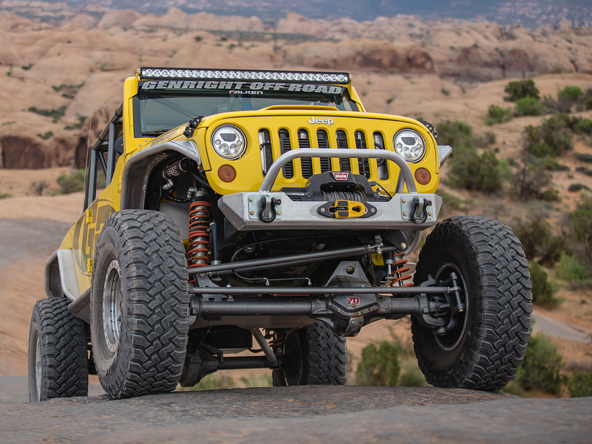 New design provides more ground clearance under the front of your JK or JKU
