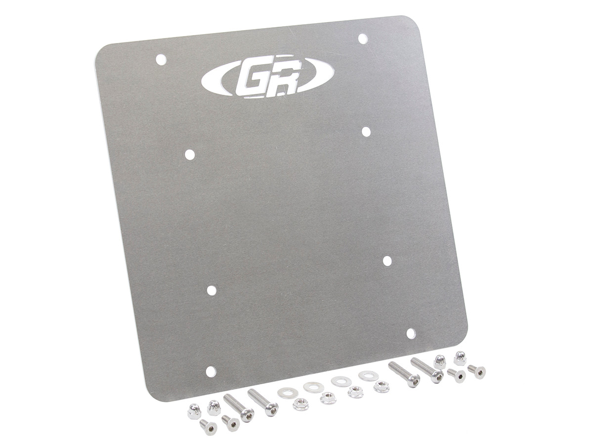 GenRight's license plate mounting plate for the center of the rear door on a TJ or LJ