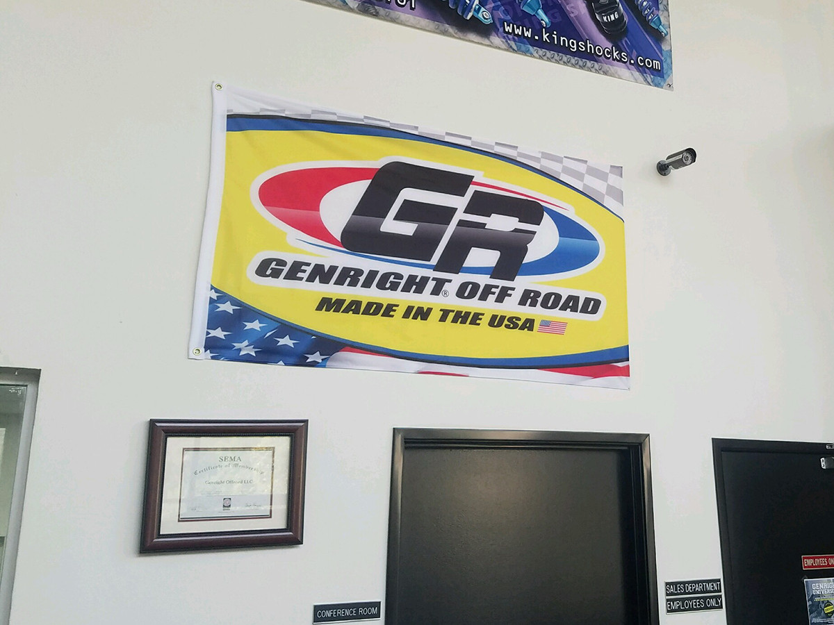 GenRight Official 3'x5' Flag Displayed