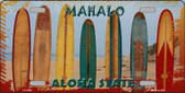 Aloha State Hawaii Blank Background Novelty Wholesale Metal License Plate