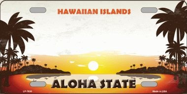 Hawaiian Islands Hawaii Blank State Background Novelty Wholesale Metal License Plate
