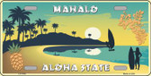 Mahalo Pineapple Hawaii Blank State Background Novelty Wholesale Metal License Plate