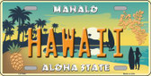 Hawaii Pineapple Background Novelty Wholesale Metal License Plate