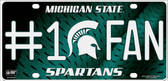 Michigan State Fan Deluxe Wholesale Metal Novelty License Plate