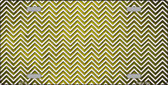 Yellow White Small Chevron Print Oil Rubbed Wholesale Metal Novelty License Plate