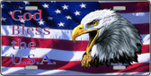 God Bless The USA Wholesale Metal Novelty License Plate LP-1445