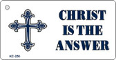 Christ Is Answer Mini License Plate Metal Novelty Key Chain