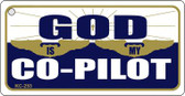 God Co-Pilot Mini License Plate Metal Novelty Key Chain
