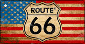 Route 66 Distressed American Flag Novelty Wholesale Key Chain