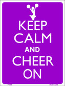 Keep Calm Cheer On Wholesale Metal Novelty Parking Sign