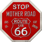 Route 66 Mother Road Wholesale Metal Novelty Stop Sign