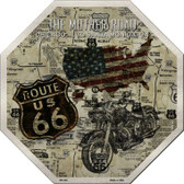 Route 66 Mother Road Vintage Wholesale Metal Novelty Stop Sign