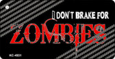 Don't Brake For Zombies Wholesale Novelty Key Chain