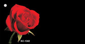Red Rose OffSet Wholesale Novelty Key Chain KC-1342