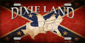 Dixie Land Novelty Wholesale Metal License Plate