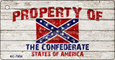 Property Of Confederate States Wholesale Novelty Key Chain