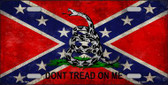 Confederate Don't Tread Novelty Wholesale Metal License Plate LP-7984