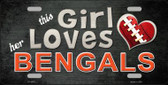 This Girl Loves Her Bengals Wholesale Novelty Metal License Plate