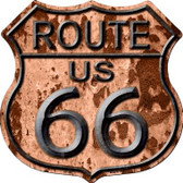 Route 66 Rusty Wholesale Metal Novelty Highway Shield