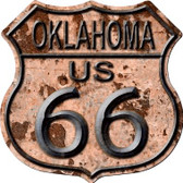 Oklahoma Route 66 Rusty Wholesale Metal Novelty Highway Shield