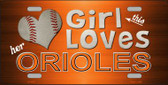 This Girl Loves Her Orioles Novelty Wholesale Metal License Plate