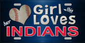 This Girl Loves Her Indians Novelty Wholesale Metal License Plate