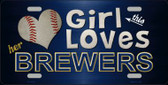 This Girl Loves Her Brewers Novelty Wholesale Metal License Plate