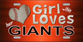 This Girl Loves Her Giants Novelty Wholesale Metal License Plate