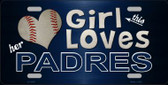 This Girl Loves Her Padres Novelty Wholesale Metal License Plate