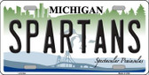 Spartans Michigan Novelty Wholesale Metal License Plate