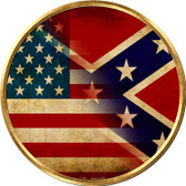 American Confederate Flag Wholesale Novelty Metal Circular Sign