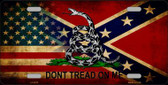 American Confederate Dont Tread Wholesale Novelty Metal License Plate