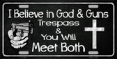God And Guns Wholesale Novelty Metal License Plate