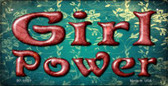 Girl Power Novelty Wholesale Metal Bicycle License Plate