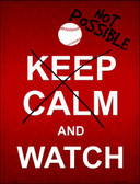Keep Calm And Watch Wholesale Metal Novelty Parking Sign