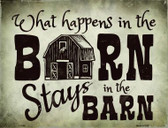 What Happens In The Barn Wholesale Metal Novelty Parking Sign